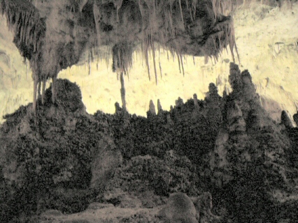 Growing up and down, stalagmites and stalactites in Carlsbad Caverns