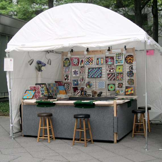 Kadon enterprises inc larger view of kate 39 s new tent 2008 for Display tents for craft fairs
